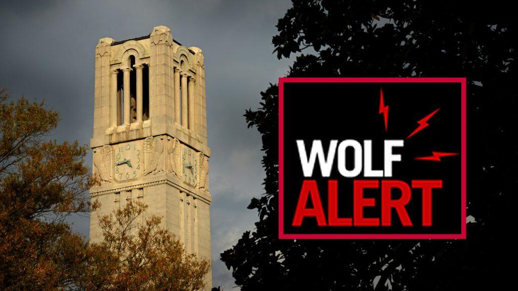 NC State Belltower - Wolf Alert